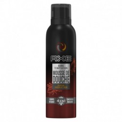 Axe Mousse de Douche & Rasage Homme Dark Temptation Parfum Chocolat Noir 200ml (lot de 3)