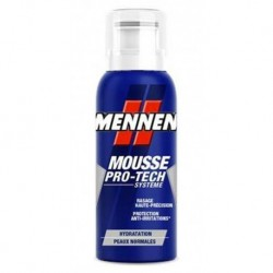 Mennen Mousse Pro-Tech Systeme Hydratation Peaux Normales Mini Format Pratique 100ml (lot de 4)
