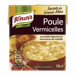 Knorr Secrets de Grand-mère Poule Vermicelles aux Petits Légumes et Morceaux de Volaille 30cl (lot de 6)