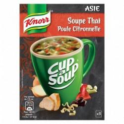 Knorr Cup a Sup Asie Soupe Thaï Poule Citronnelle par 3 Sachet de 12g (lot de 6)