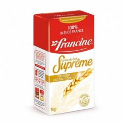 Francine Farine de Blé Suprême Première Extraction Type 45 1Kg (lot de 8)