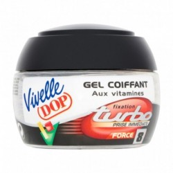 Vivelle DOP Gel Coiffant aux Vitamines Fixation 24h Force 8 Turbo 150ml (lot de 3)
