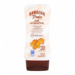 Hawaiian Tropic Silk Hydratation SPF 30 Protective Sun Lotion 180ml (lot de 2)