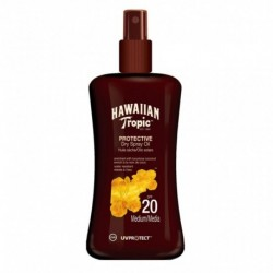 Hawaiian Tropic Protective Dry Spray Oil SPF 20 Coconut 200ml (lot de 2)