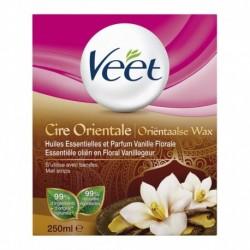 Veet Cire Orientale Huiles Essentielles et Parfum Vanille Florale 250ml (lot de 2)