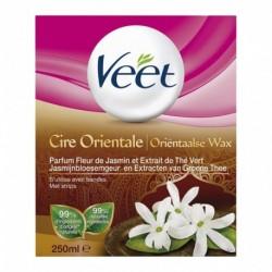 Veet Cire Orientale Parfum Fleur de Jasmin et Extrait de Thé Vert 250ml (lot de 2)