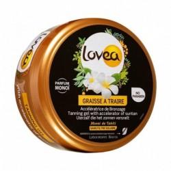 Lovea Graisse à Traire Accélératrice de Bronzage Monoï de Tahiti Sans Filtre Solaire 150ml (lot de 2)