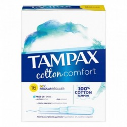TAMPAX Cotton Comfort Tampon Regular x16 (lot de 4)