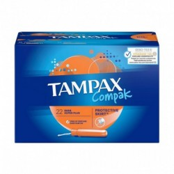 TAMPAX Compak Tampon Regular Protective Skirt x22 (lot de 4)
