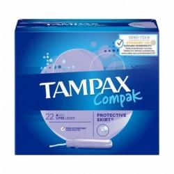 TAMPAX Compak Tampon Lites Protective Skirt x22 (lot de 4)