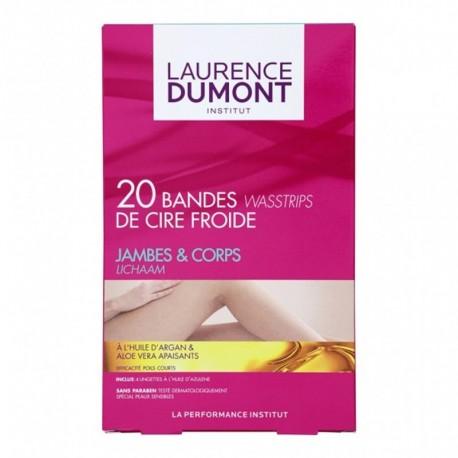 LAURENCE DUMONT Bandes de Cire Froide Jambes & Corps Huile d'Argan Aloe Vera x20 (lot de 3)