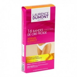 LAURENCE DUMONT Bandes de Cire Froide Aisselles & Maillot Huile d'Argan Aloe Vera x16 (lot de 3)
