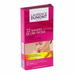 LAURENCE DUMONT Bandes de Cire Froide Sourcils & Petites Zones Huile d'Argan Aloe Vera x32 (lot de 3)