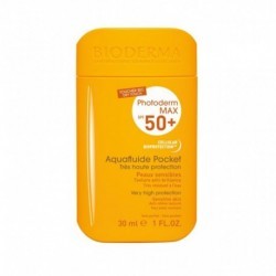 BIODERMA Photoderm Max SPF 50 + Aquafluide Pocket Très Haute Protection Peaux Sensibles 30ml (lot de 2)