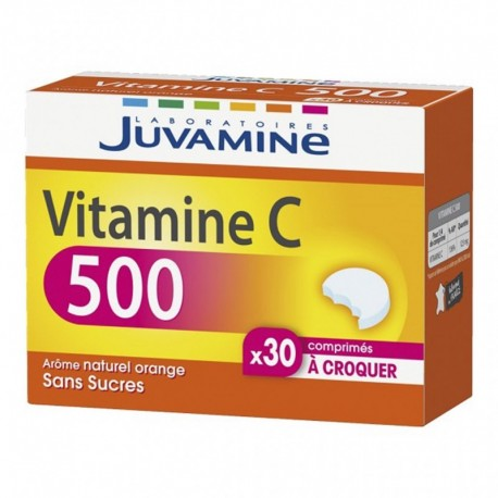 Juvamine Vitamine C 500 Arôme Naturel Orange Sans Sucres (lot de 2)