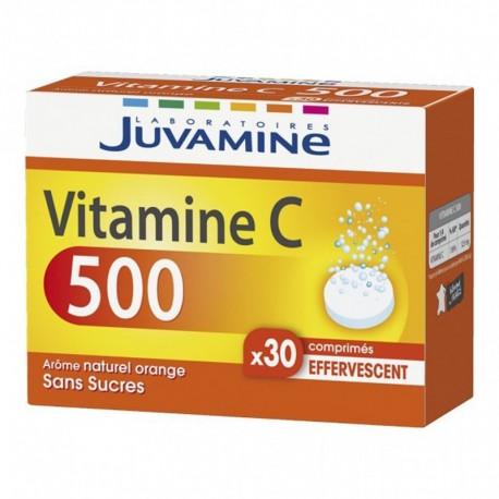 Juvamine Vitamine C 500 Arôme Naturel Orange Sans Sucres (lot de 2)