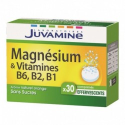 Juvamine Magnésium & Vitamines B6 B2 B1 Arôme Naturel Orange Sans Sucres (lot de 2)