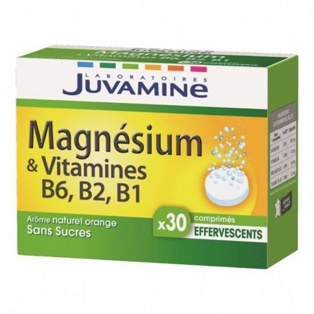 Juvamine Magnésium & Vitamines B6 B2 B1 Arôme Naturel Orange Sans Sucres (lot de 2)