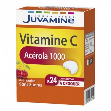 Juvamine Vitamine C Acérola 1000 Goût Cerise Sans Sucres (lot de 2)