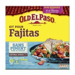 Old El Paso Kit pour Fajitas Sans Piment Plein de Saveurs Extra Doux 478g (lot de 3)