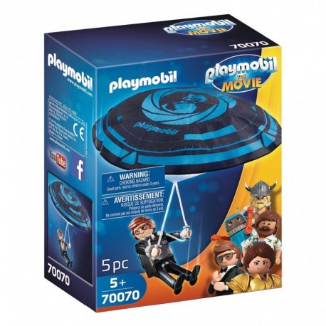 PLAYMOBIL 70070 The Movie - Rex Dasher avec Parachute