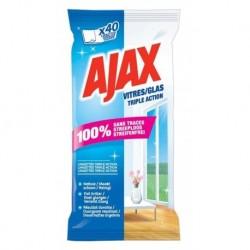 Ajax 40 Lingettes Vitres Triple Action (lot de 6 soit 240 lingettes)