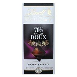 Lindt Excellence Noir Subtile 70% Cacao Doux (lot de 6)