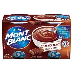 Mont Blanc Crème Dessert Chocolat (lot de 6)