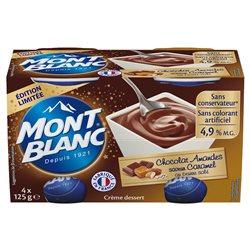 Mont Blanc Crème Dessert Choco-Amandes (lot de 6)