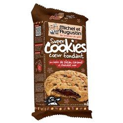Michel et Augustin Super Cookies Chocolat Noir Noix Pecan Caramel  (lot de 10 x 3 paquets)