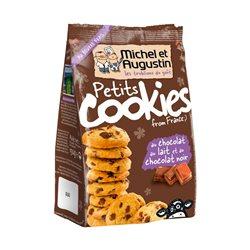 Michel et Augustin Petits Cookies Chocolat au Lait Chocolat Noir (lot de 10 x 3 paquets)