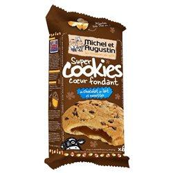 Michel et Augustin Super Cookies Chocolat au Lait Noisettes (lot de 10 x 3 paquets)
