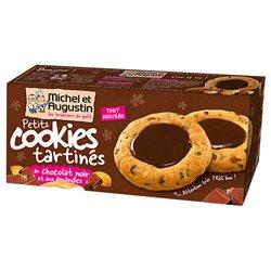Michel et Augustin Petits Cookies Tartinés Chocolat Noir Amandes (lot de 10 x 3 paquets)