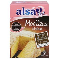 Alsa Préparation Gâteau Moelleux Nature (lot de 6)