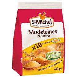 St Michel Madeleines Nature à emporter 250g (lot de 10 x 3 sachets)