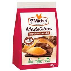 St Michel Madeleines Nappées Chocolat à emporter 350g (lot de 10 x 3 sachets)
