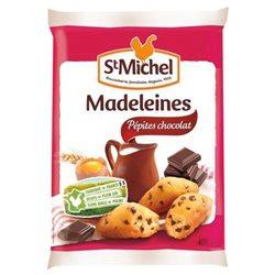 St Michel Madeleines Pépites de Chocolat 400g (lot de 10 x 3 sachets)