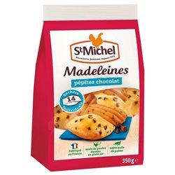 St Michel Madeleines Pépites de Chocolat à emporter 350g (lot de 10 x 3 sachets)
