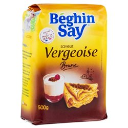 Béghin-Say Saveur Vergeoise Brune 500g (lot de 10 x 3 paquets)