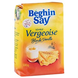 Béghin-Say Saveur Vergeoise Blonde Vanille 500g (lot de 10 x 3 paquets)