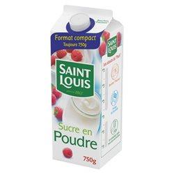 Saint Louis Sucre En Poudre 750g (lot de 10 x 6 paquets)