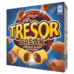 Tresor Break Barre Chocolat au Lait 130g (lot de 10 x 3 boîtes)