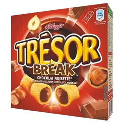 Tresor Break Barre Chocolat Noisette 130g (lot de 10 x 3 boîtes)