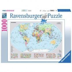 Ravensburger Puzzle 1000 pièces - Carte du monde politique