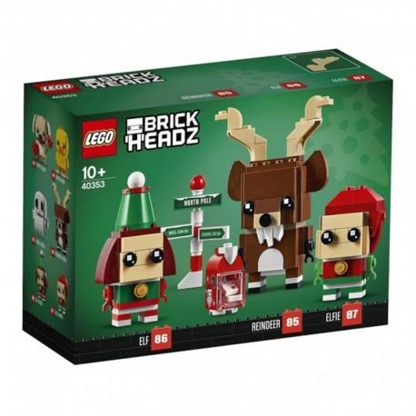 LEGO 40353 Brickheadz - Renne, Elfe et Elfie