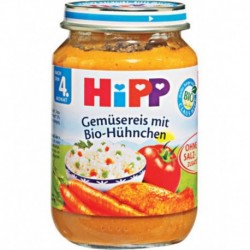 Hipp Nach 4 Monat Gemüsereis mit Hühnchen 190g (carton de 6)