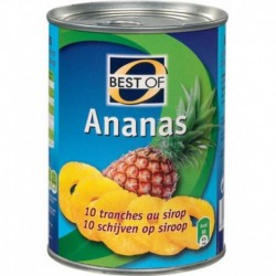 Best Of Ananas 10 Tranches au Sirop 570g (lot de 24)
