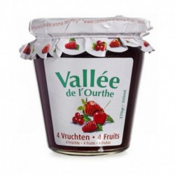 Vallée de l'Ourthe Confiture 4 Fruits 370g (lot de 8)
