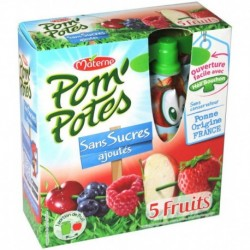 Pom'Potes 5 Fruits Rouges