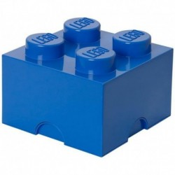 LEGO Storage Brick Boîte de Rangement bleu x4